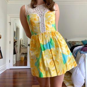 Lily Pulitzer yellow rose dress